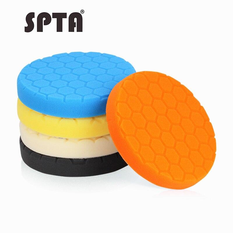SPTA 7 zoll (180mm) polieren Pad Polieren Polieren Pad Set Für Auto Auto Wachs Buffer Polierer-Farbe Wählen
