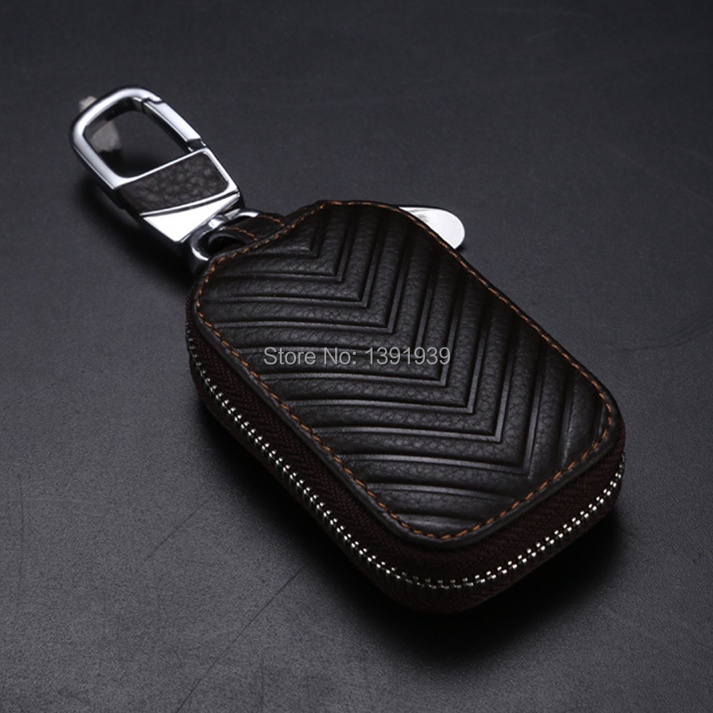 Car key wallet case Genuine Leather for Cadillac XT5 ELR CT6 CTS XTS ATS SRX SLS STS Escalade XLRV STSV DTS BLS free shipping