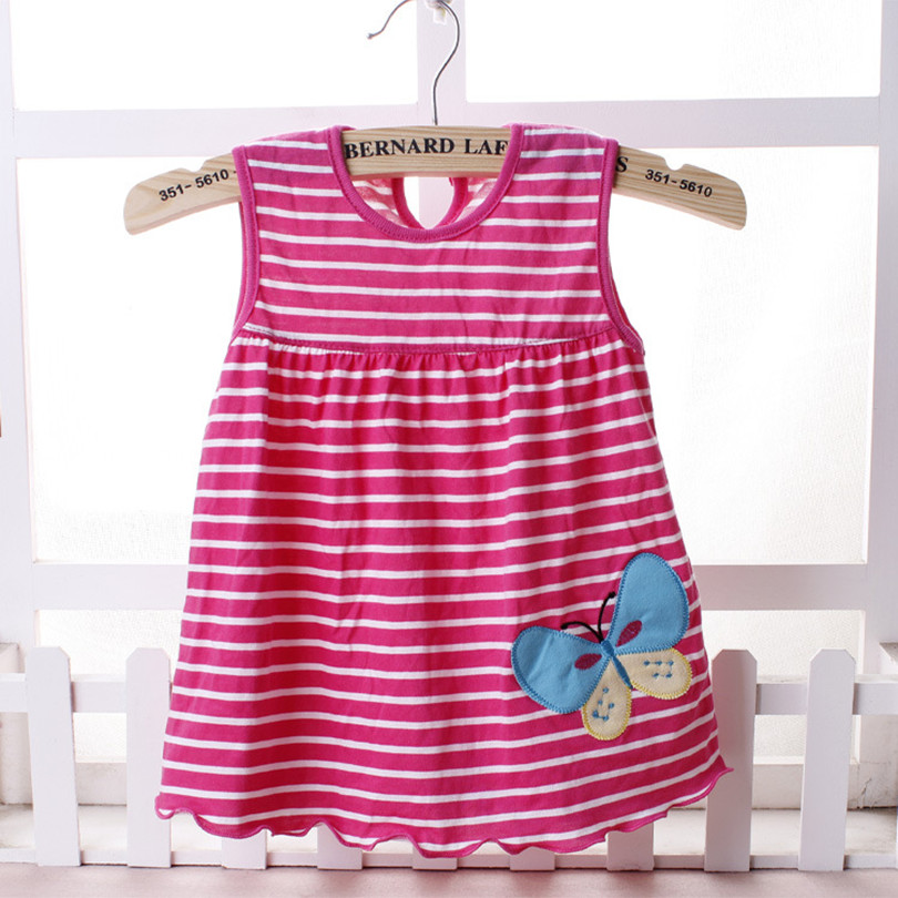̿̿̿(•̪ )2018 Summer one year Baby Girl Cotton Dress Infant Kids ...