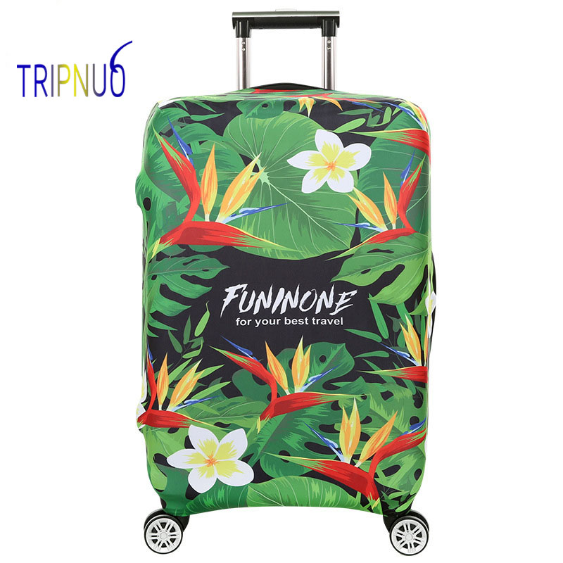 TRIPNUO Flowers Suitcase Protective Trunk Covers Apply To 18~32 Inch Case Elastic Travel Luggage Cover Stretch Trolley case