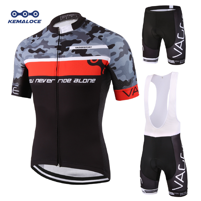 Camo Digital Print Red Men Cycling Wear Sublimation Printing Discount Cycling Uniforms Brand High Quality Biking Clothing Sets