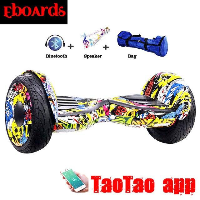 Taotao APP Hoverboard 10 Polegada Bluetooth Música Giroskuter Gyroscooter  Skate Duas Rodas Auto Balance Scooter Elétrica d343a6b8be0