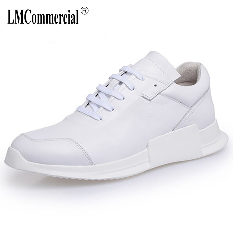 men's shoes spring and autumn New White male Real leather casual shoes men British retro all-match cowhide casual shoes new autumn winter british retro men shoes red new shoes all match 2017 male korean men s leather high boots breathable fashion