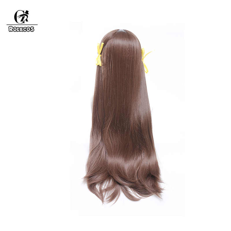 ROLECOS Tooru הונדה קוספליי שיער אנימה פירות סל קוספליי בארה 'ב 80 cm Natual חום נשים שיער ארוך עמיד בחום סינטטי