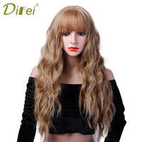 DIFEI 26'' Long Curly Colored Hair Wigs Heat Resistant Synthetic Wigs For Black White Women Natural Female Hair Pieces
