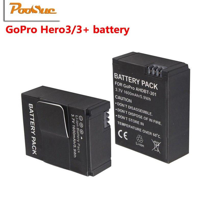 2pcs lot go pro hero 3 batteries ahdbt 301 bateria li ion battery ahdbt301 for gopro hero3 3. Black Bedroom Furniture Sets. Home Design Ideas