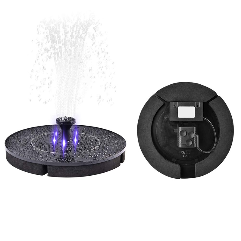 Image 2 - 2.4W LED Solar Fountain Watering Kit Power Solar Pump Pool Pond Submersible Waterfall Floating Solar Panel Water Fountain Pump-in Pumps from Home Improvement