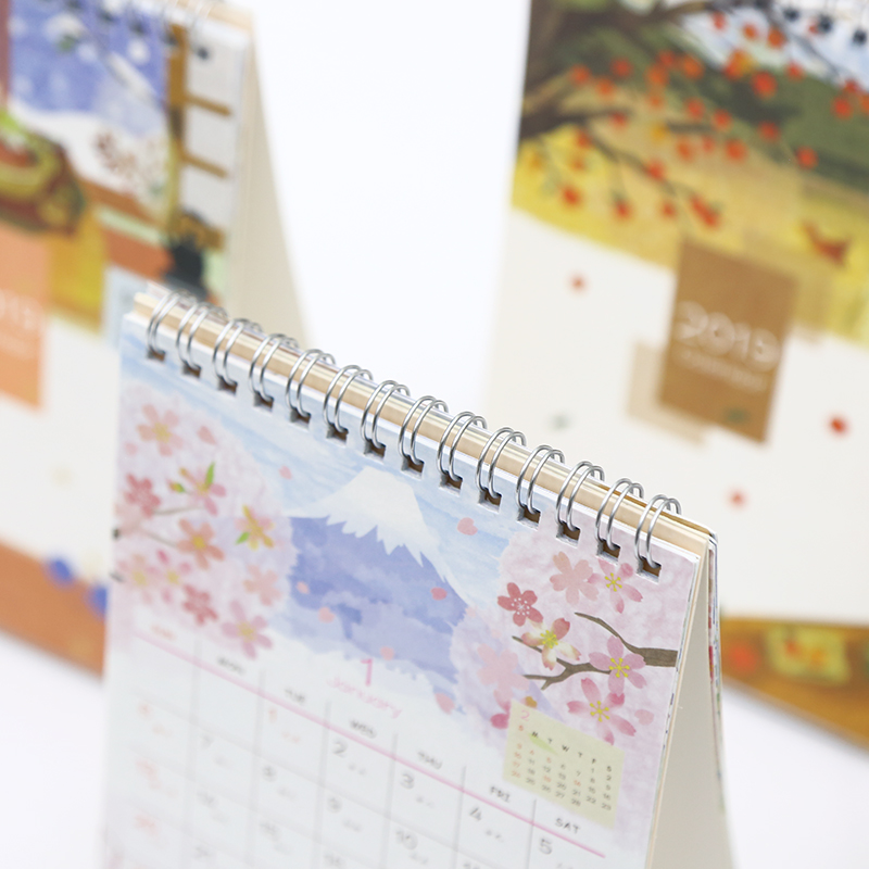 Calendar Calendars, Planners & Cards 2019 Year Cute Landscape Creative Desk Standing Paper Multifunction Organizer Schedule Planner Notebook New Cartoon Calendar