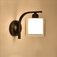 HGhomeart American Iron Wall Lamp Wall Mounted Bedside Lamps 110V 220V E27 Up Down Light Outdoor Wall Light Luminaria Led Wall