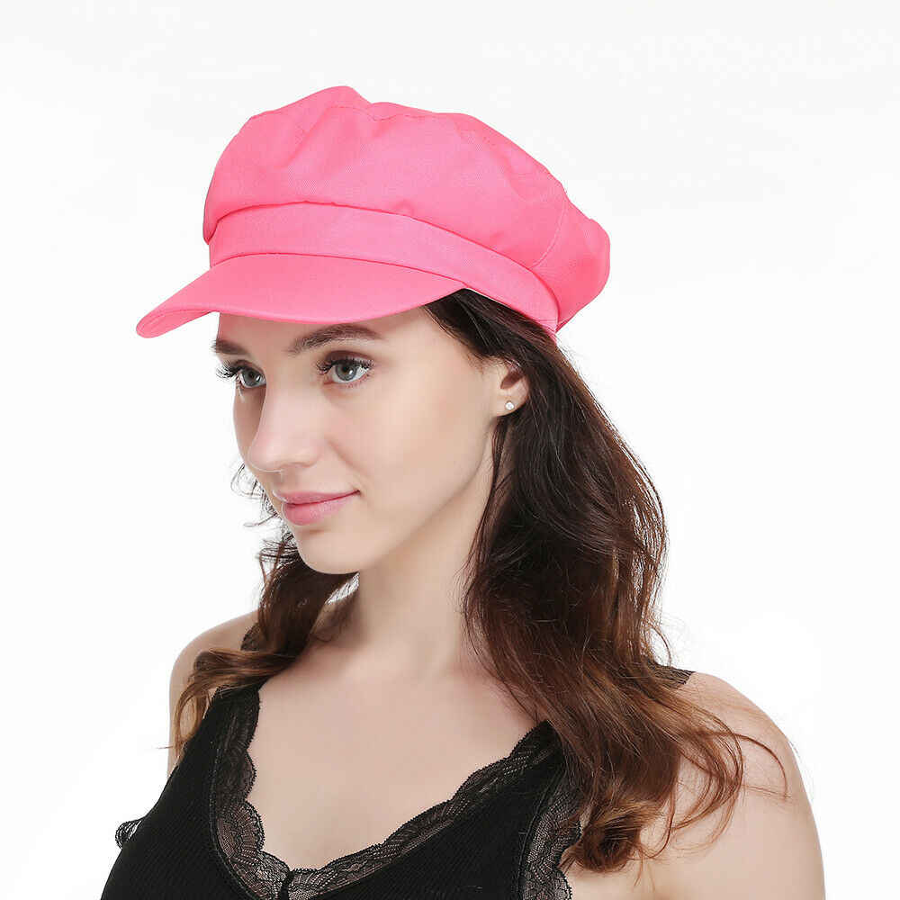 إمرأة الفتيات البوليستر بيكر الصبي بلغت ذروتها كاب الصيف موزع الصحف ظلة قبعة