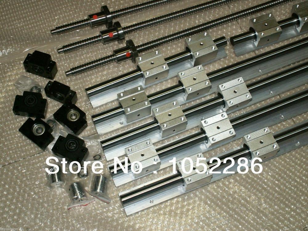 6set SBR16-300/600/800mm linear rail+3set ballscrew RM1605+3set BK/BF12+3pcs nut bracket+3 coupler CNC set кухонная мойка ukinox stm 800 600 20 6