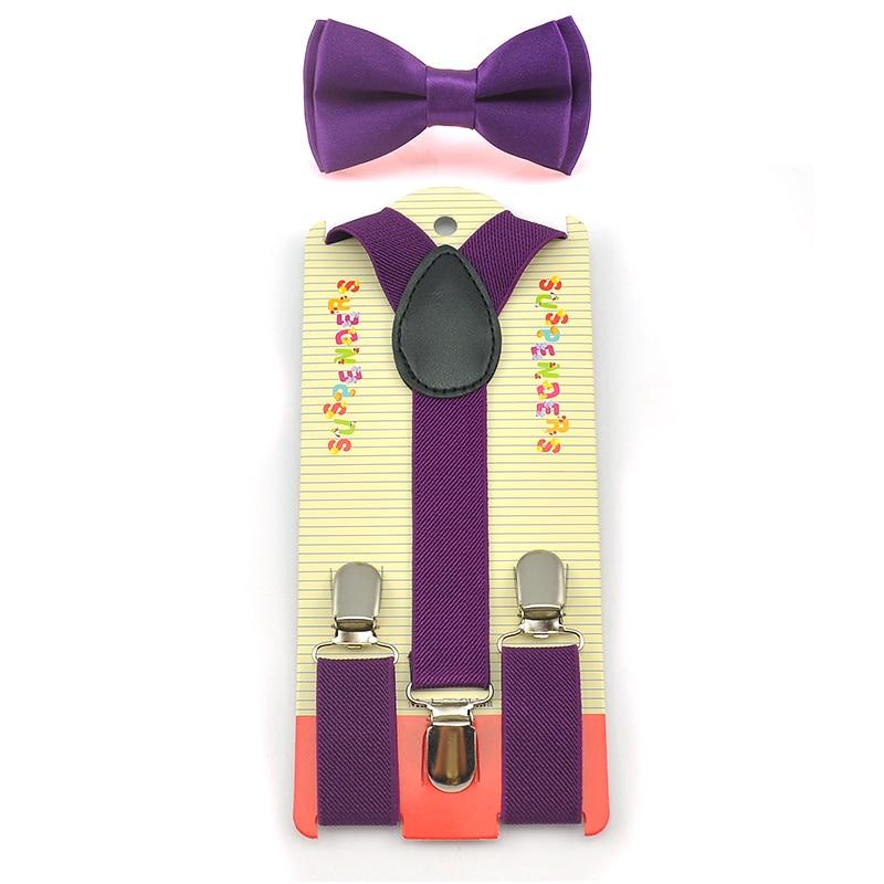Bow Tie & Elastic Suspenders Set Y-Shape Braces&Butterfly Sets Fashion Kids Children Boys Girls