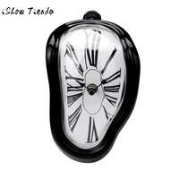 Hot Sale Creative Block Twisting Clock Digital Retro Distortion Irregular Clock Decorations For Home Free Shipping