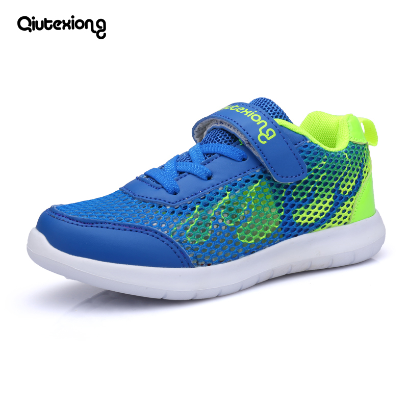 Air mesh boys shoes Children casual shoes girls 2018 summer Child new sport shoes school kids sneaker shoes eur 28-38# blue/pink