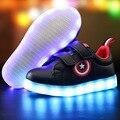 Капитан Америка Дети Shoes Света Led световой Кроссовки Мальчики Девочки USB Зарядки Sport Casual Shoes For Kids Светящиеся Кроссовки