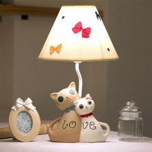 JW_Modern Fun Creative Cute Cat Table Lamp For Living Room Childrenu0027s Desk Lamp  Bedroom Bedside Lamp Dimmer Garden Table Lamp