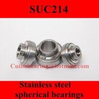 Freeshipping Stainless Steel Spherical Bearings SUC214 UC214