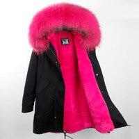 2017 invierno chaqueta mujeres camuflaje chaqueta femenina señora larga escudo calidad superior mapache parkas