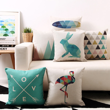 Nordic fashion Geometry Animal Simple modern Pillow Cover Home Decorative Pillows Linen Pillow Case Office Sofa Cushion Cover