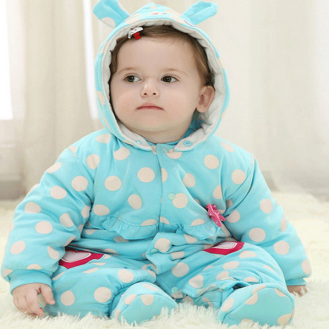 2017 Inverno Roupas de Bebê de Algodão Do Bebê Da Menina do Menino Roupas Rompers New born jumpsuit macacão de neve do bebê de pelúcia-snowsuit meninas roupas