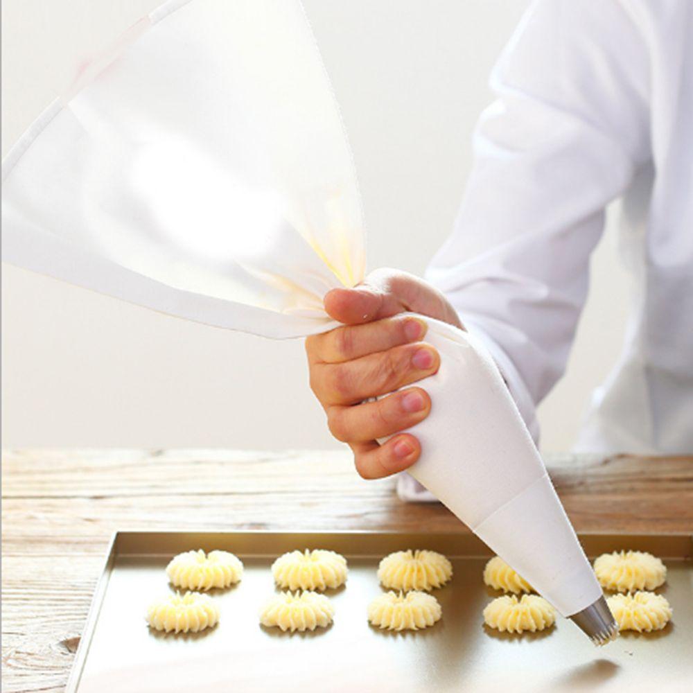 1 PC 100% Coton Gâteau Crème Pâtisserie Glaçage Sac Cuisson Cuisson Gâteau Outils Tuyauterie Sac Accessoires de Cuisine Écologique