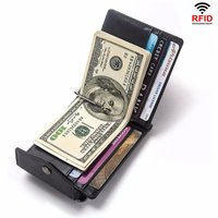 Fashion 2018 HOT Genuine Leather Money Clips RFID High Quality Cow Men Wallets Hasp Mini Purses vintage Men Wallet Walet