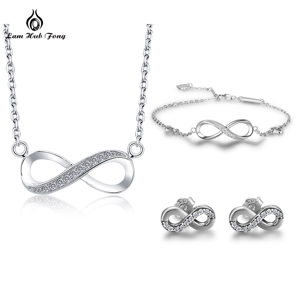 Sterling Silver Infinity Pendant Necklace NEW