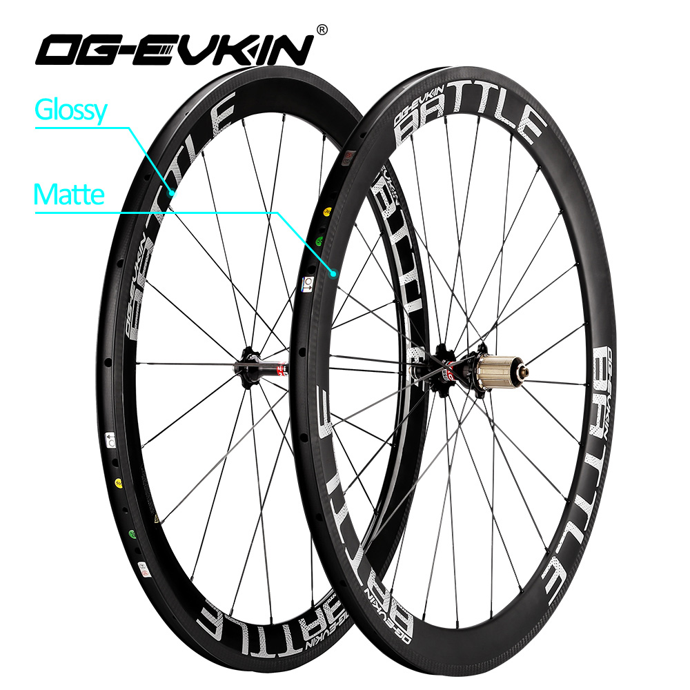 все цены на OG-EVKIN Carbon Road Wheelset 50mm UD Weave 700C Bike Wheels 3K Brake Surface Carbon Wheels Road Bicycle Wheel 271-372 Hubs