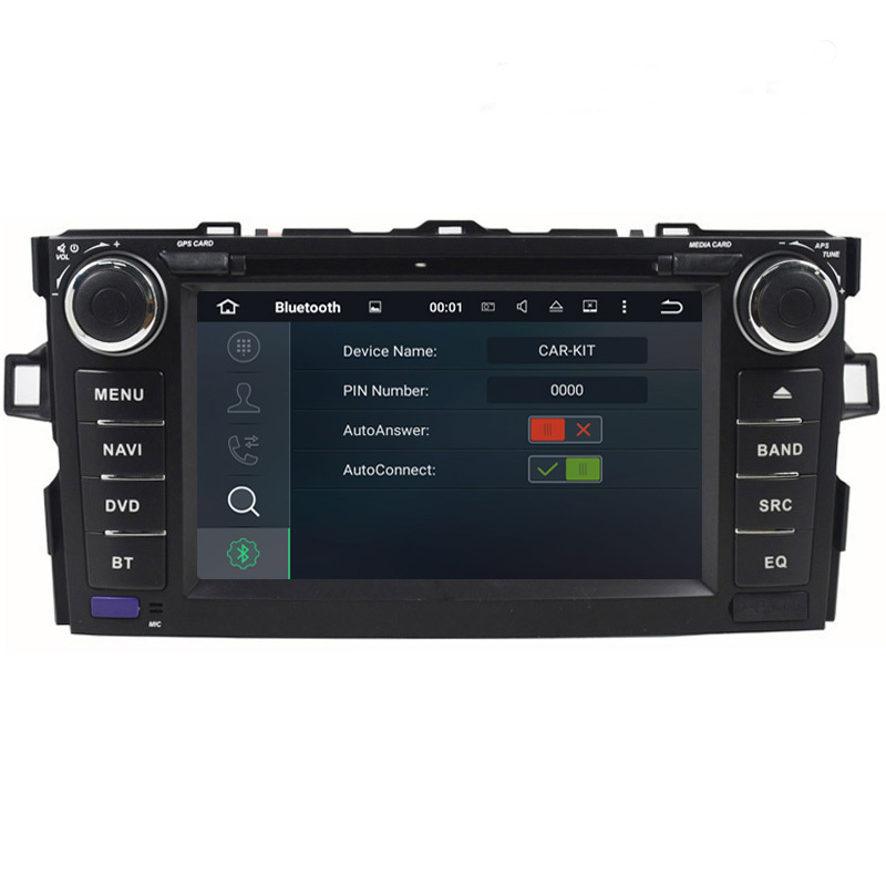 """7/"""" Quad Core Android 7.1 Car Player GPS Head Unit For Toyota Corolla Hatch 12-15"""