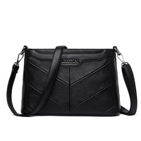 ICEV new arrival casual solid zipper pu leather women's shoulder bags ladies leather messenger small shell clutch top handle bag