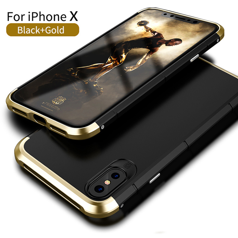 finest selection e9dc5 57aea US $13.74  Best Quality Showkoo 360 Full Protection Phone Case For iPhone  X(10) Slim Back Cover 3 in 1 Aluminum Metal Frame For iPhone X-in Fitted ...