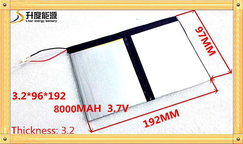 <font><b>3.7V</b></font> <font><b>8000mAh</b></font> For Teclast X98 air 3G P98 3G v99i Tablet PC Battery 3 wire Perfect quality of large capacity alternatives image