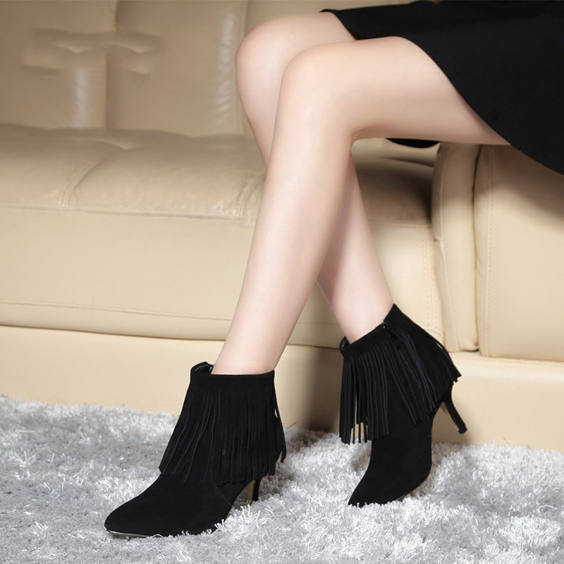 Compare Prices on Cheap Fringe Boots Suede- Online Shopping/Buy ...