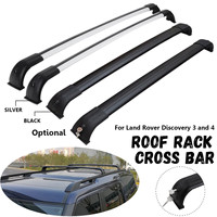 2 pcs 120KG Locking Roof Cross Bar Roof Rack Box Keys Black Silver Kit for Land Rover Discovery 3/4