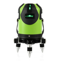 5 Line 1 Point 360 Degree Rotary Self Leveling Green Line Laser Level