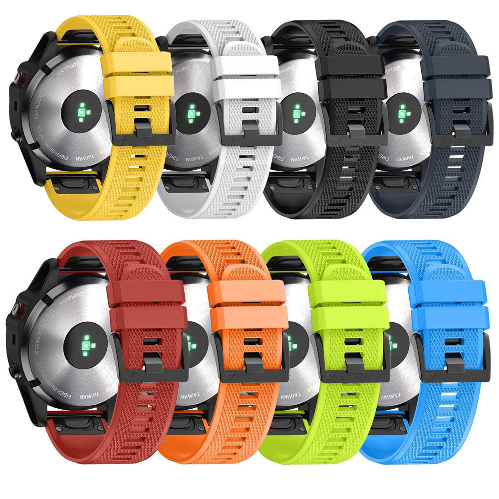 26 22 20mm For Garmin Fenix 5 6 5X 6X 6s Fenix 3 Smart Watches Band Quick Release Easy Fit Silicone Watch Wrist Band Strap 11.6