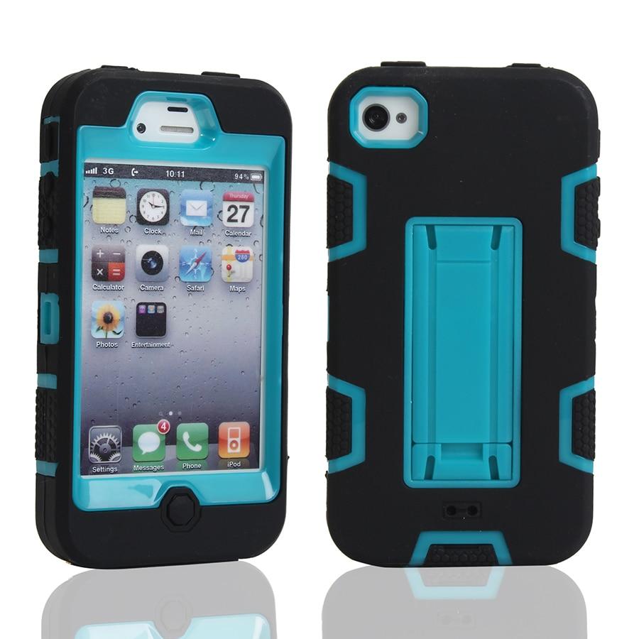 Pour Coque iPhone 4S Cas Silicone En Plastique Hybride Armure Couverture iPhone 4S Accessoires iphone4s Téléphone Cas Antichoc Couverture Arrière