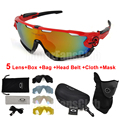 New Cycling Sun Glasses Bike Bicycle Glasses Lens Mountain Bike Sunglasses Outdoor Sports Eyewear Goggles with Mask