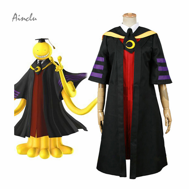 Ainclu Free Shipping Assassination Classroom Class 3-E Teachers Koro-sensei adult costume Cosplay Costume