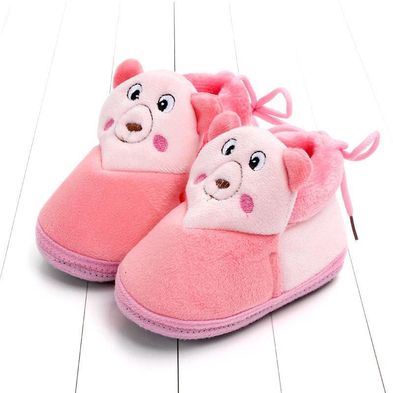 Indoor First Walkers Baby Shoes Cotton Anti-slip Booties Winter Wammer Baby Girl Boy Shoes Newborn Slippers Footwear Booties (1)