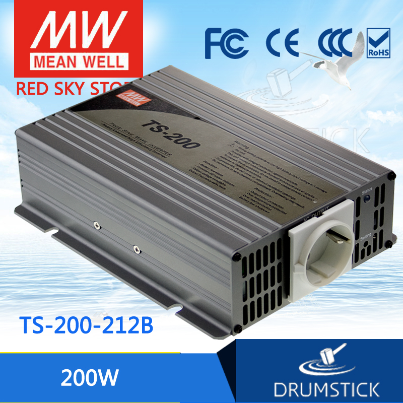цена на Hot sale MEAN WELL TS-200-212B EUROPE Standard 230V meanwell TS-200 200W True Sine Wave DC-AC Power Inverter