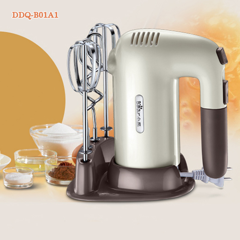 Household hand-held electric whisk mixer food egg stirring blender DDQ-B01A1 bear 220 v hand held electric blender multifunctional household grinding meat mincing juicer machine