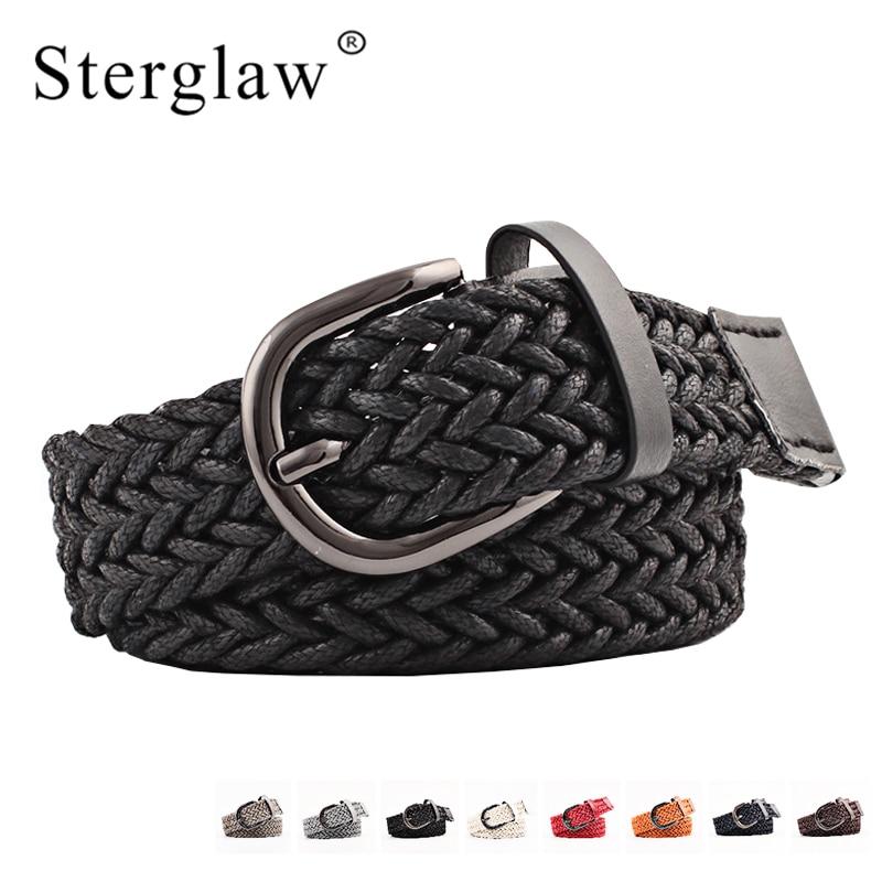103x2.5cm NEW women's belt for dresses braided belts female high quality black black wide belt Women's cinturon mujer N103