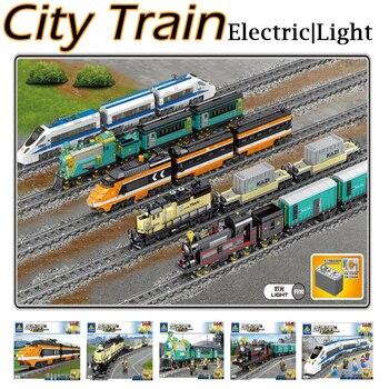 KAZI Technic Creator miasto dworzec kolejowy tory kolejowe funkcja zasilania klocki klocki DIY kid zabawki dla dzieci prezenty