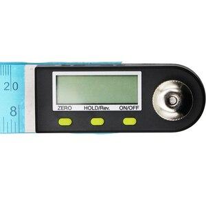 Image 3 - מד זווית נירוסטה דיגיטלי מד זווית SHAHE 360 תואר goniometer זווית finder מד דיגיטלי זווית שליט goniometer