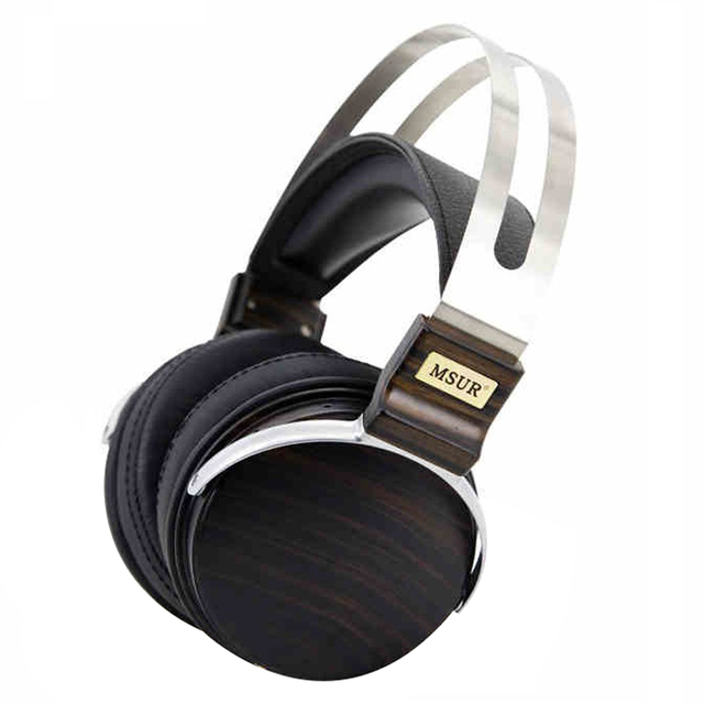 100% de gama alta original msur n650 hifi madera metal auricular con el conductor de aleación de berilio portein cuero t80