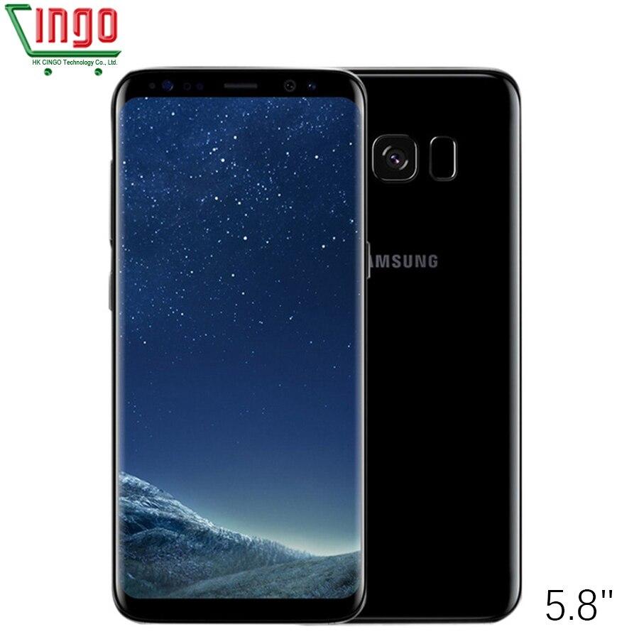 Оригинальный samsung Galaxy S8 SM-G950F 4G LTE мобильный телефон 6 4G B 5,8 дюймов одной сим 12MP 3000 мАч серии S Смартфон