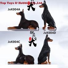 цена на 1/6 Scale Animal model scene Accessories JxK JxK004 Doberman Pinschers Dog Animal Model Toys Gift for collection