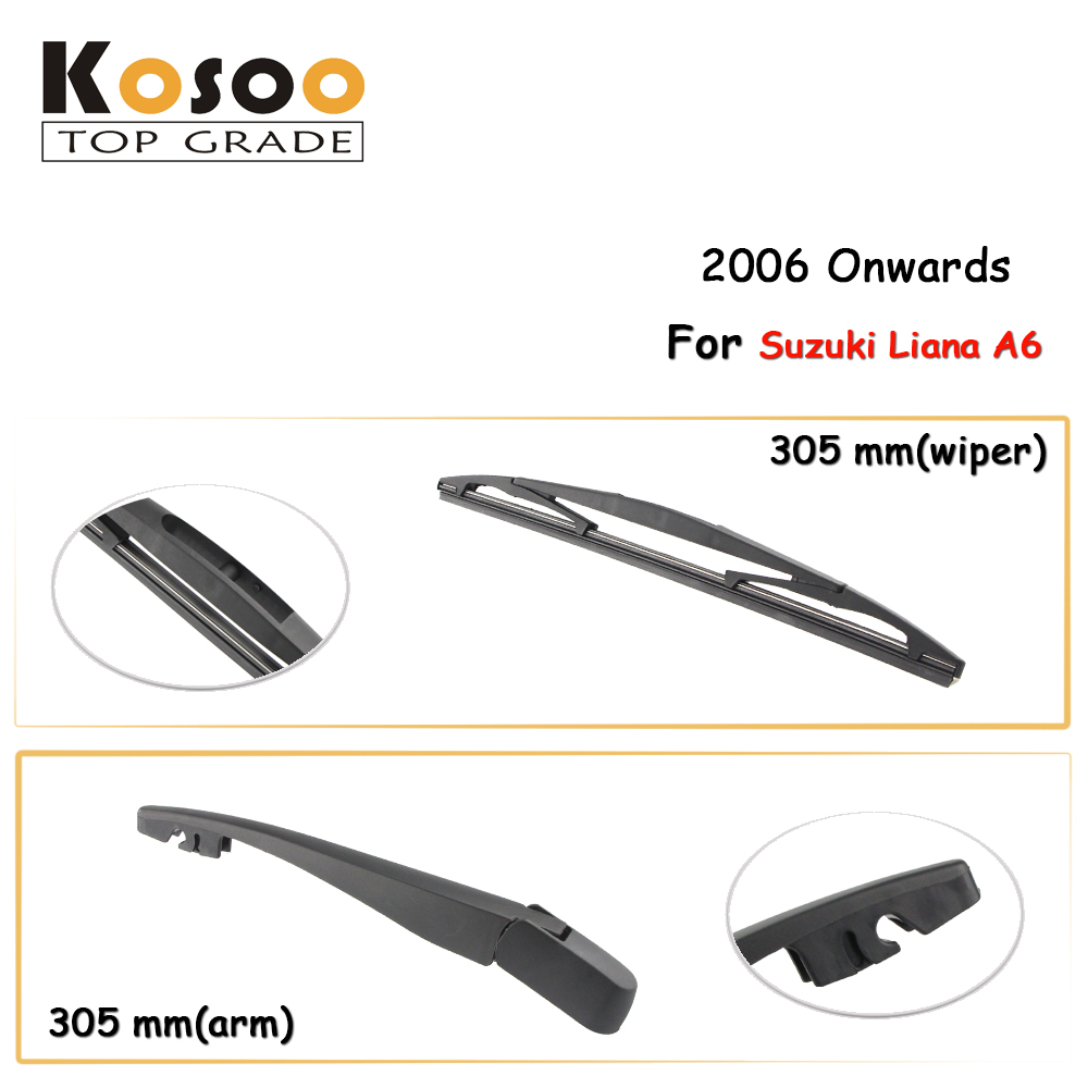 Kosoo auto rear wiper blade for suzuki liana a6 305 mm 2006 onwards rear window