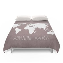 Buy world map bedding sets and get free shipping on aliexpress adventure awaits world map duvet covers bedding set twin full queen king size bed linen 4pcs gumiabroncs Image collections